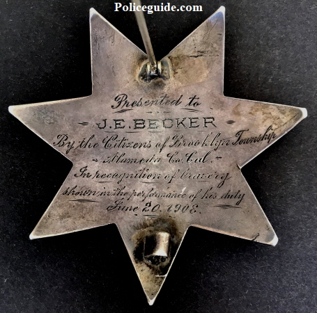 Presented to J. E. Becker.