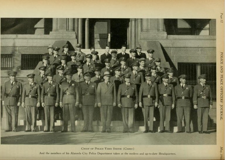 Alameda, CA Police group photo circa 1940.