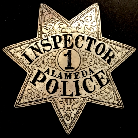 Alameda, CA Police Inspector badge #1 made by