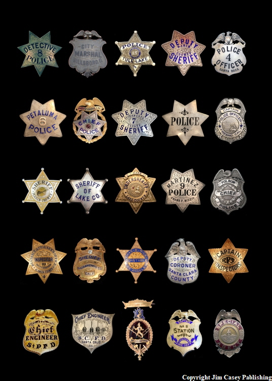Lawman & Fire Badges Poster 20x30
