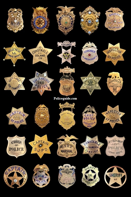 Gold Lawman Badges Poster 20x30