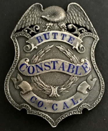 Butte Co. Cal. Constable made by Irvine & Jachens 1027 Market St. S. F. Sterling, circa 1912