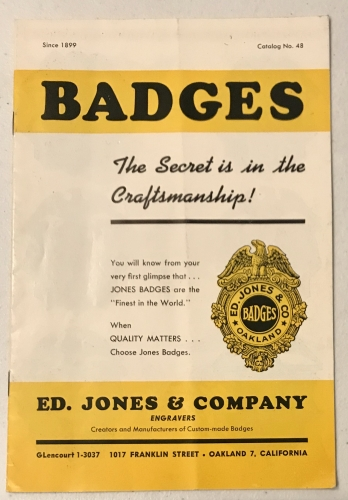 Ed Jones & Co. engraver Catalog No. 48.