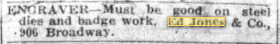 Engraver Needed 13 Apr 1919 Oak Trib