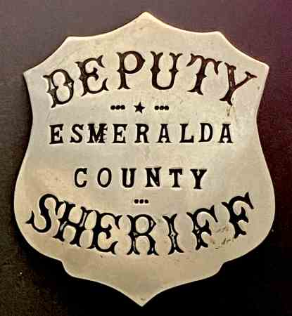 Esmeralda County Deputy Sheriff badge made by L. H. Moise Sansome St. San Francisco.
