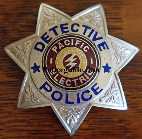 Pacific Electric Detective Police fantasy badge created by Jim Hurley.