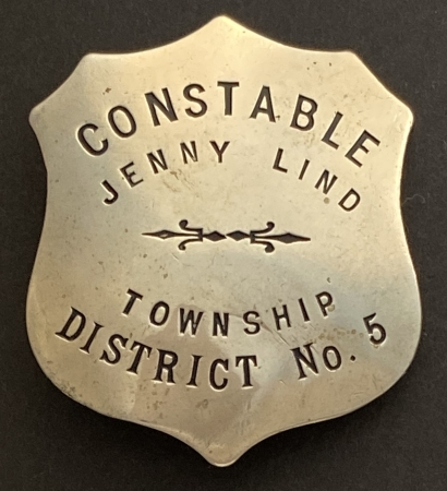 James Patrick Gurney last wore this badge from Jenny Lind which is registered as California Historical Landmark #266 and located in the heart of Calaveras Gold mining area.