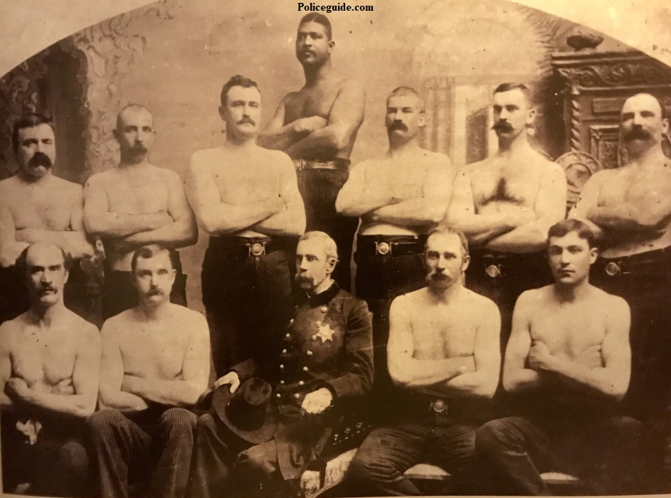 Pictured above is Captain Roberts with the Strongman Team, Circa 1890s.  Bare knuckle boxing in the ring helped prepare for battles on  the streets of Los Angeles.