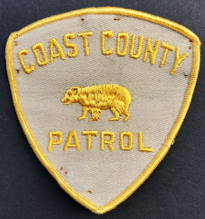 Los Angeles County Coast Patrol patch.  The badges are hard to find but the patches are near impossible.