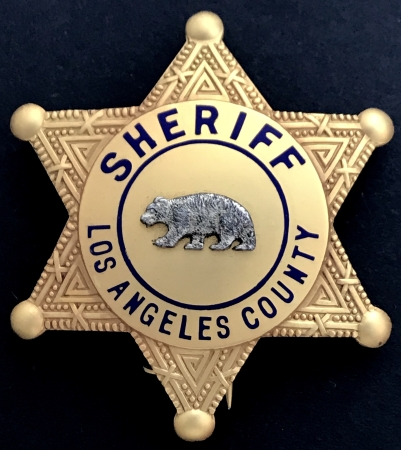 Sheriff  Los Angeles  County, circa 1935.
