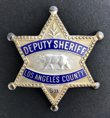 Los Angeles County Deputy Sheriff badge S31.