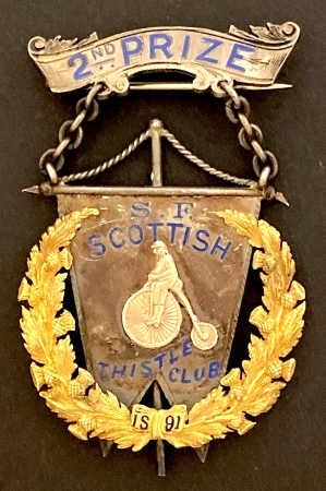 S.F. Scottish Thistle Club 1891 2nd Prize-450-2