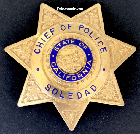 Chief of Police badge Soledad,�