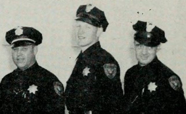 North Sacramento Police Chief W. F. Wilson, Officers Paul F. Rineberg and Ben Bruno.