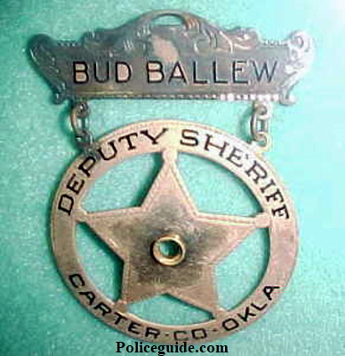 Gold badge of Bud Ballew.