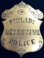 Philadelphia Police Detective badge.