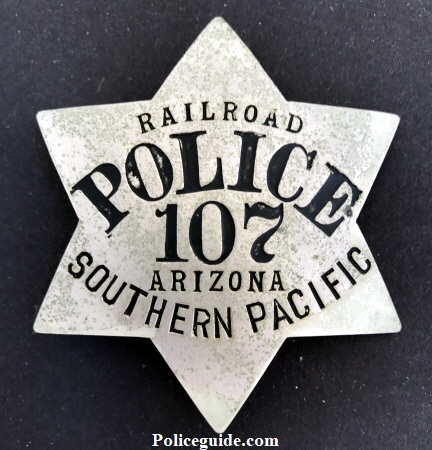 Railroad Police 107 Arizona Southern Pacific�