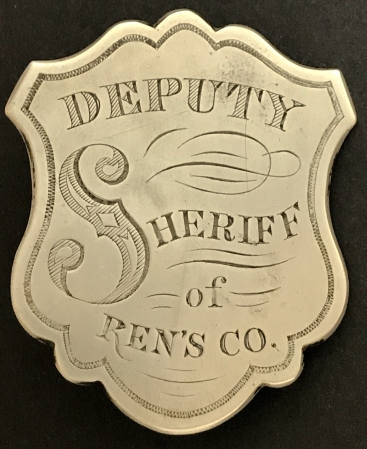 Deputy Sheriff badge Renssalaer County.  This badge gave the Captain of the Fire Department authority to arrest law breakers and dispurse crowds that gathered at fires.