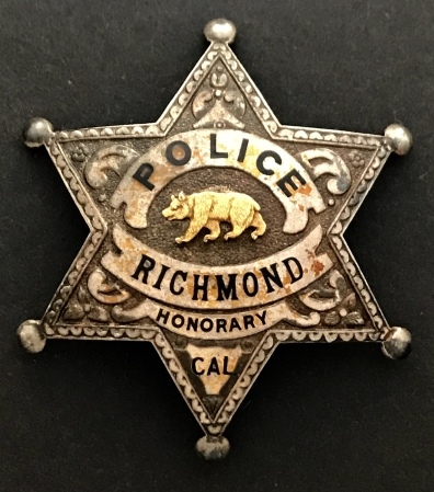 Richmond Police Honorary badge.