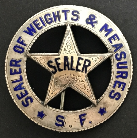 Sealer S. F. Sealer of Weights & Measures