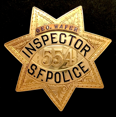 San Francisco Police Inspector badge #554