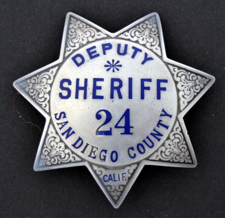 Circa 1925 sterling deputy sheriff badge.