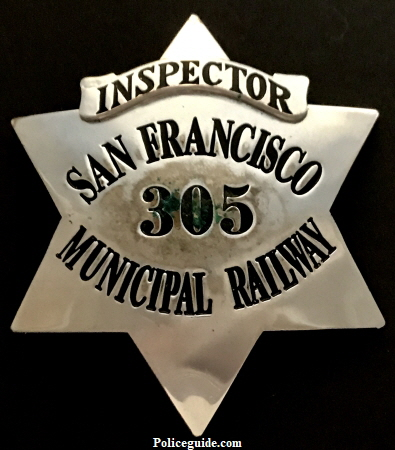 Walter B. Barnes was employed by the San Francisco Municipal railway.  He drove cable cars and later was promoted to Inspector.  His badge, Identification card and  Beret are pictured.