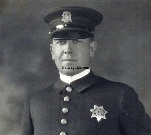 This image shows newly appointed Officer Geo. P. Wafer in 1923.  Courtesy of Patty Davis.