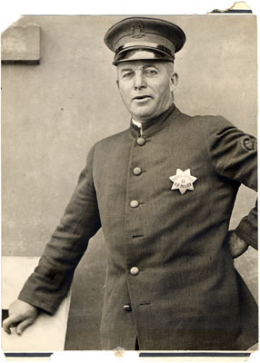 Photo of Spike Hennessey, San Francisco Police Patrol Driver wearing badge #8,�