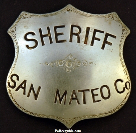 Joel Mansfield Undersheriff / Sheriff badge.  Made by Will & Finck