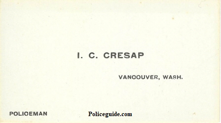 Cresap Policeman business card